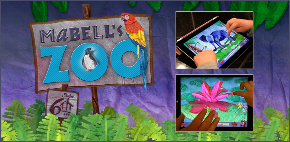 Mabell's Zoo, multi-touch picture book for children